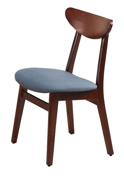 【南洋風休閒傢俱】精選造型椅系列-紐松木深胡桃色餐椅 有背餐椅 木質餐椅 貓抓皮餐椅(SB365-2)