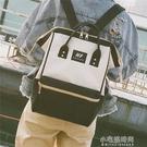 日系大容量雙肩包女原宿風高中學生書包帆布旅行背包男 【全館免運】