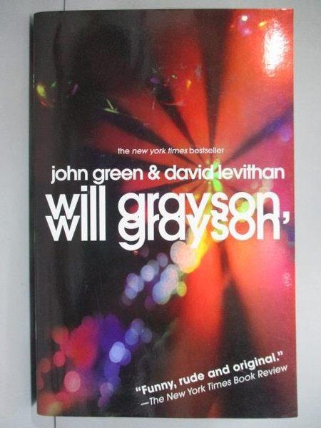 【書寶二手書T8/原文小說_IGJ】Will Grayson, Will Grayson_Green, John/ Le