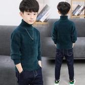 兒童毛衣童裝男童毛衣加厚中大兒童水貂絨高領套頭秋冬裝打底2020新款洋氣 新品