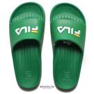 FILA (偏小建議大半號) 綠 白黃 英文LOGO 基本款 防水 拖鞋 男女 (布魯克林) 4S355V661