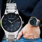 EMPORIO ARMANI 亞曼尼 AR11118 黑面紳士時尚精品錶 熱賣中!