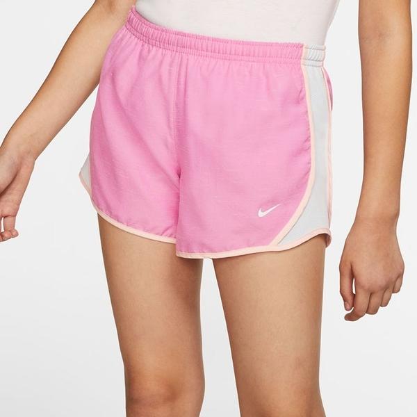 NIKE 短褲 DRI-FIT TEMPO 粉紅 慢跑 健身 運動褲 大童 女 (布魯克林) 848196-694