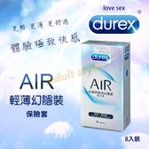 情趣用品 杜蕾斯AIR輕薄幻隱保險套 (8入)【鼠年行大運】