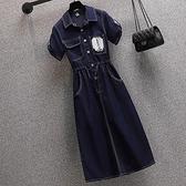 大碼連衣裙牛仔連衣裙薄款 6580 3F-3F088 L-4XL 胖妞衣櫥