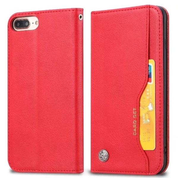 IPhone 6 6S Plus 皮質外卡夾手機套 磁扣翻蓋 可立式手機皮套 全包防摔手機殼 皮夾式手機皮套