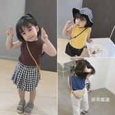 背心 女童彈力背心兒童柔軟素面小背心寶寶內搭上衣 3色【潮男嚴選】