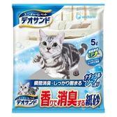 日本Unicharm消臭大師 瞬間消臭紙砂-沐浴香(5Lx6入)