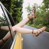 平底涼鞋 2020新款綁帶涼鞋女夏百搭夾腳平底波西米亞女鞋夾趾沙灘學生【快速出貨】