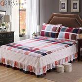 全棉床罩床裙單件純棉雙人防滑床套床蓋1.5m米正韓床單【全館鉅惠85折】