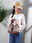 刺繡包小手提包女包中國風迷你手提包包民族風手提包文藝帆布女小手提包 爾碩數位3c