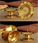 蓮花燈座 一對 蠟燭台 擺件合金燭台供佛熱賣夯款