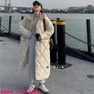 限時特惠外套 冬季新款溫柔菱格加厚棉衣過...