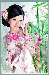 女式和服/演出寫真服/粉色花