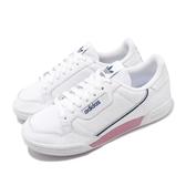 adidas 休閒鞋 Continental 80 W 白 藍 粉紅 女鞋 小白鞋 復古款 運動鞋 【PUMP306】 EF6010