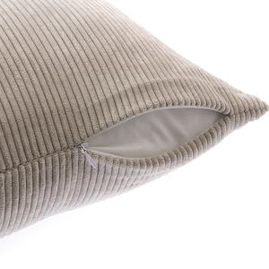 燈芯絨素色抱枕套45x45cm-卡其