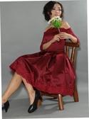 (45 Design)   短款公主小禮服 婚禮伴娘 模特 走秀  深V 露背 黑色緞面 小洋裝