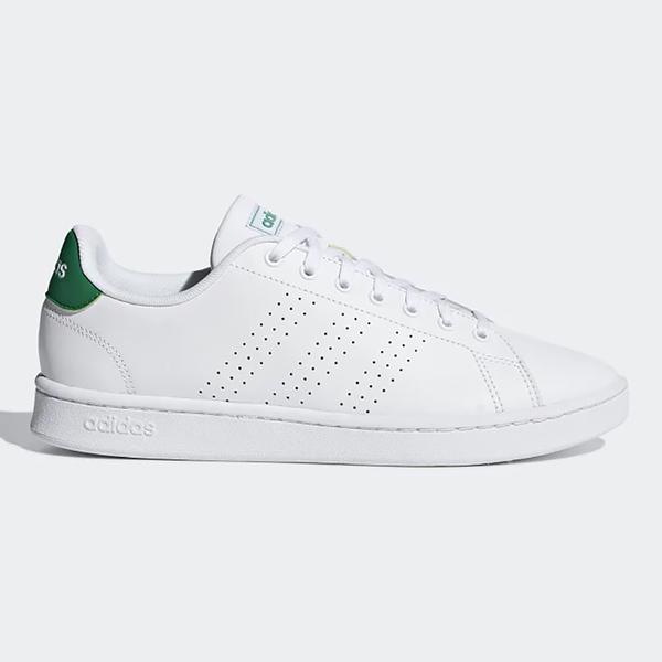 Adidas ADVANTAGE 男鞋 休閒 流行 皮革 軟底 白 綠【運動世界】F36424