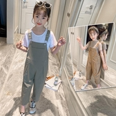 女童吊帶褲套裝洋氣2020新款夏裝薄中大童韓版寬鬆網紅時尚兩件套 童趣