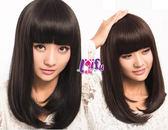 ★依芝鎂★W72假髮飛柔氣質妹妹頭直髮假髮長髮假髮,整頂售價450元
