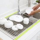 瀝水籃 廚房可折疊洗碗池水斗瀝水籃水槽上方收納放碗籃濾漏碗籃涼置物籃jj小c推薦