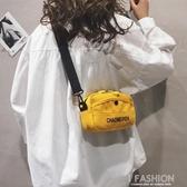 帆布小包包女2019新款時尚韓版ins寬帶百搭學生斜挎單肩包女