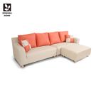 【多瓦娜】MIT馬布多貓抓皮L型沙發/皮沙發-四色-518型-2+2+ST