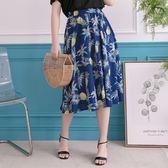 Poly Lulu 度假風滿版鳳梨印花鬆緊長裙-深藍【95260057】