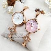 Kimio金米歐 都會知性 珍珠螺貝氣質花朵女錶 防水手錶 手鍊錶 細手環 鑲鑽 玫瑰金 女錶 K6212