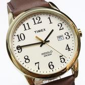 【萬年鐘錶】TIMEX INDIGLO冷光面板  傳統經典  白錶面 棕皮帶  38mm  TW2P75800