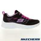 SKECHERS MICROSPEC 童鞋 中童 慢跑 輕量 避震 緩衝 黑紫【運動世界】302468LBLK