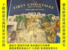 二手書博民逛書店原版立體書The罕見First Christmas Pop-Up Book with Light & Music(