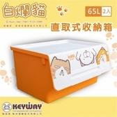 【dayneeds】白爛貓直取式收納箱 65L/二入