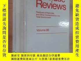 二手書博民逛書店英文書罕見Residue Reviews Volume (85、