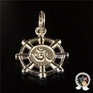 嗡 法輪925銀+紅繩項鍊【 十方佛教文物】