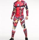 找到自己 MD 日系 時尚 男 紅色機器人 高彈力 速幹 緊身 運動服 籃球服 健身服 套裝 T恤+褲子