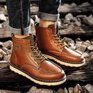 馬丁靴男短靴英倫中高筒鞋復古工裝皮男靴子正韓個性沙漠
