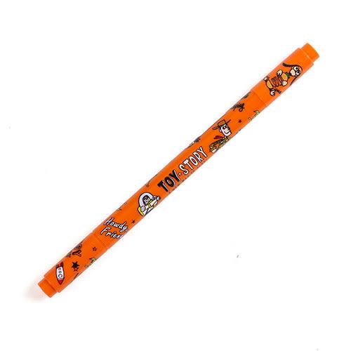 《KAMIO》玩具總動員雙頭彩色水性簽字筆(彈簧狗橘)_KM85601