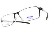 MIZUNO 美津濃 光學眼鏡 MF1732 C70 (霧黑-銀) 簡約方框款 β鈦眼鏡 # 金橘眼鏡