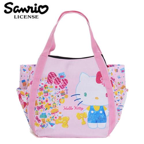 HKA002【日本正版】Hello Kitty x MANUFATTO 兩用 托特包 肩背包 手提袋 凱蒂貓 三麗鷗 - 128362
