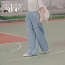 Queen Shop【04110275】休閒百搭牛仔打摺寬褲 S/M/L*現+預*