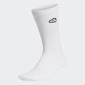 ADIDAS SUPER SOCKS 白 小logo 中筒襪 (布魯克林) FM0720