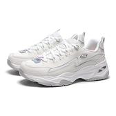 SKECHERS 慢跑鞋 DLITES 4.0 白灰 網布 拼接 固特異防磨底 休閒鞋 女(布魯克林) 149491WHT