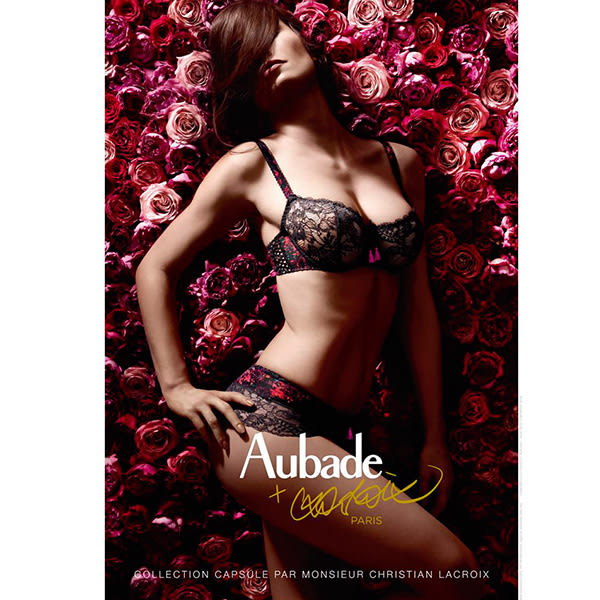 Aubade-巴黎牧歌D-F蕾絲薄襯全大罩內衣(黑)DX
