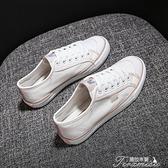 帆布鞋女年春夏季新款ulzzang百搭黑色鞋子平底小白板鞋潮 快速出貨