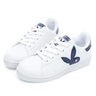 PLAYBOY 簡約兔頭休閒貝殼鞋2.0-白藍(Y6726)