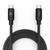 ADAM 亞果元素 CASA C200 USB-C 對 USB-C 200CM 100W 充電傳輸線 黑色