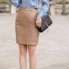 青春復古格紋職人上班OL短裙[9X432...