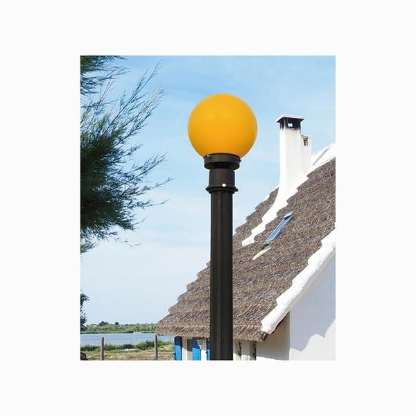 20cm戶外庭園燈 8吋黃球白球 60mm插管 PE塑膠 戶外燈 立燈 可搭配LED 庭園造景 景觀設計 現貨