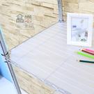 【品樂生活】層架專用PP板45X122CM-透明白1入/層架配件/防掉板/鞋架/行李箱架/衛生紙架/鞋櫃